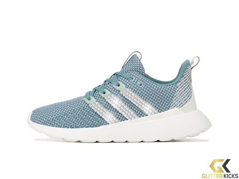Women's Adidas Questar Flow + Crystals - Blue/Mint