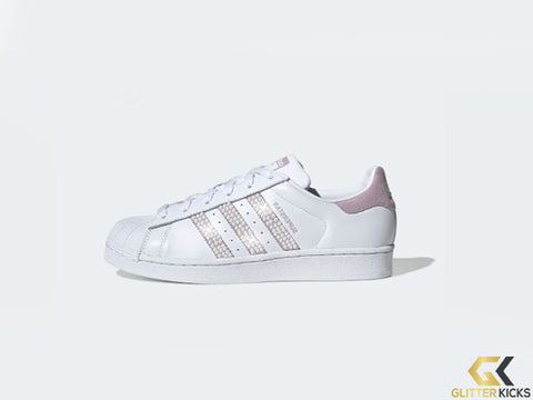 Adidas Superstar + Crystals - Cloud White/Soft Vision/Core Black