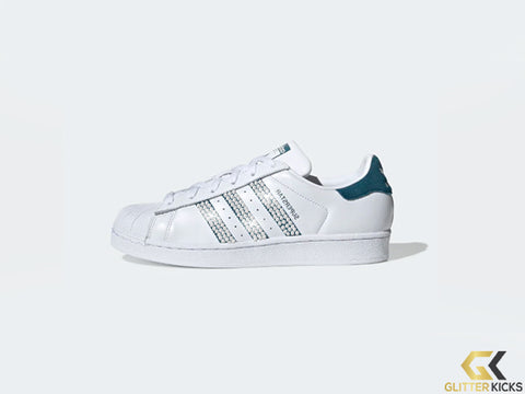 Adidas Superstar + Crystals - Cloud White/Tech Mineral/Core Black