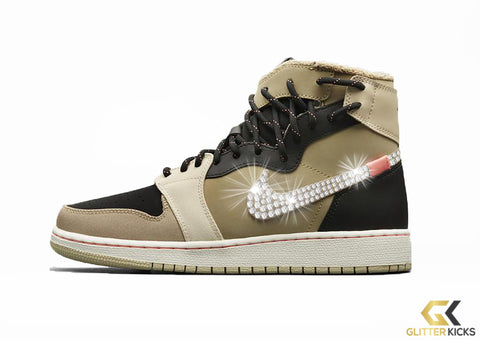 Air Jordan 1 Rebel XX Utility + Crystals - Parachute Beige Black Beach e1bf2bacd8