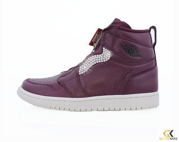 8bb8942a2343a0 Air Jordan 1 High Zip Premium - Bordeaux – Glitter Kicks