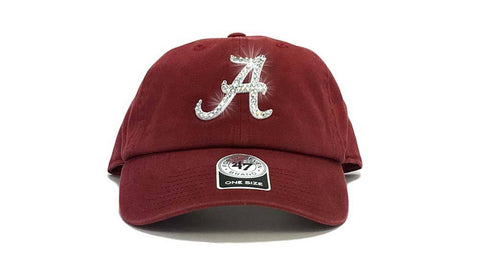 Alabama Crimson Tide '47 Brand Adjustable Cap + Custom Swarovski Crystals