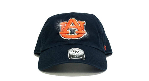 Auburn Tigers '47 Brand Adjustable Cap + Custom Swarovski Crystals