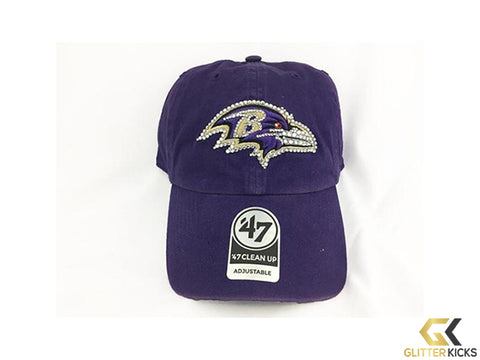SALE - Baltimore Ravens Adjustable Cap + Crystals
