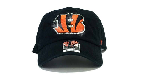 Cincinnati Bengals '47 Brand Adjustable Cap + Custom Swarovski Crystals