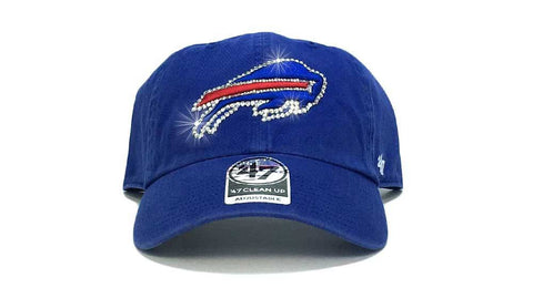 Buffalo Bills '47 Brand Adjustable Cap + Custom Swarovski Crystals