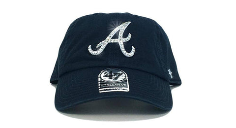Atlanta Braves '47 Brand Adjustable Cap + Custom Swarovski Crystals