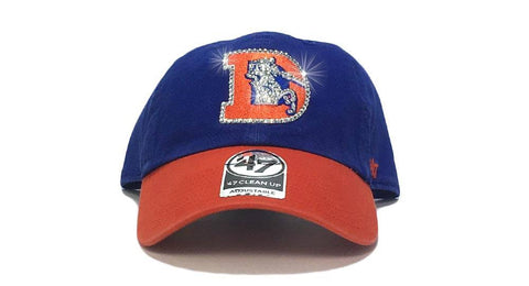 Denver Broncos Two-Tone '47 Brand Adjustable Cap + Custom Swarovski Crystals