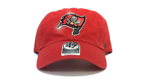 Tampa Bay Buccaneers '47 Brand Adjustable Cap + Custom Swarovski Crystals