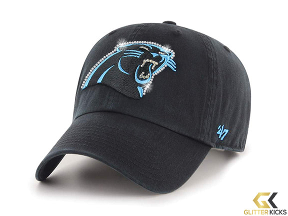 SALE - Carolina Panthers Adjustable Cap + Crystals