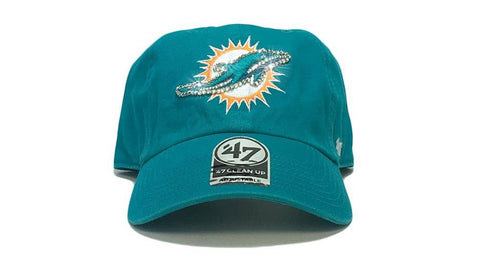 Miami Dolphins '47 Brand Adjustable Cap + Custom Swarovski Crystals