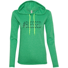 #Blessed - 887L Anvil Ladies' LS T-Shirt Hoodie
