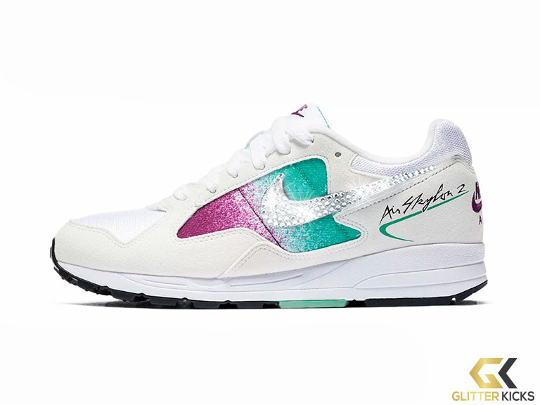 Nike Air Skylon II + Crystals - White/Clear Emerald