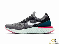 Nike Epic React Flyknit + Crystals - Gunsmoke
