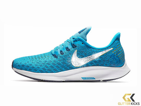 Nike Air Zoom Pegasus 35 + Crystals - Blue Orbit
