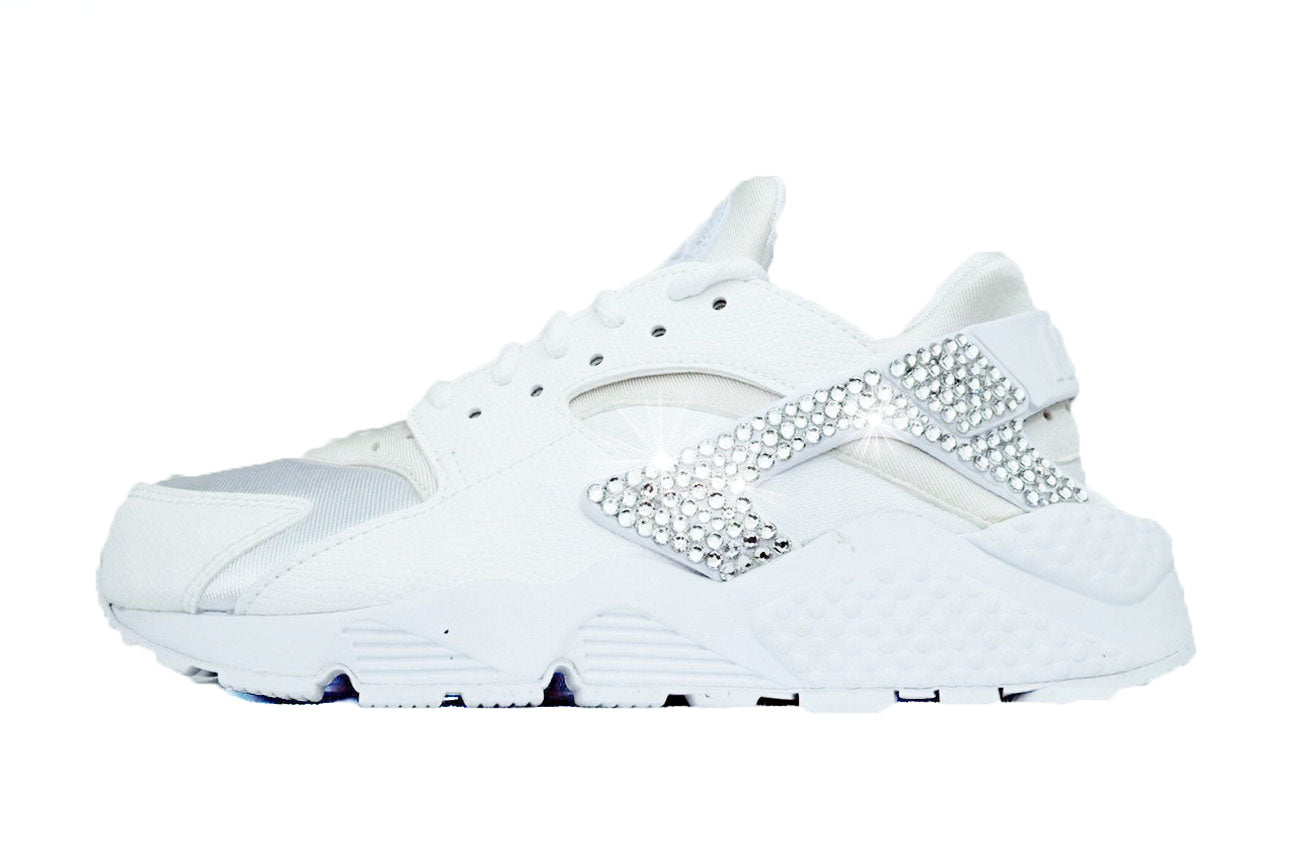 CLEARANCE - Nike Air Huarache Run + Crystals - White