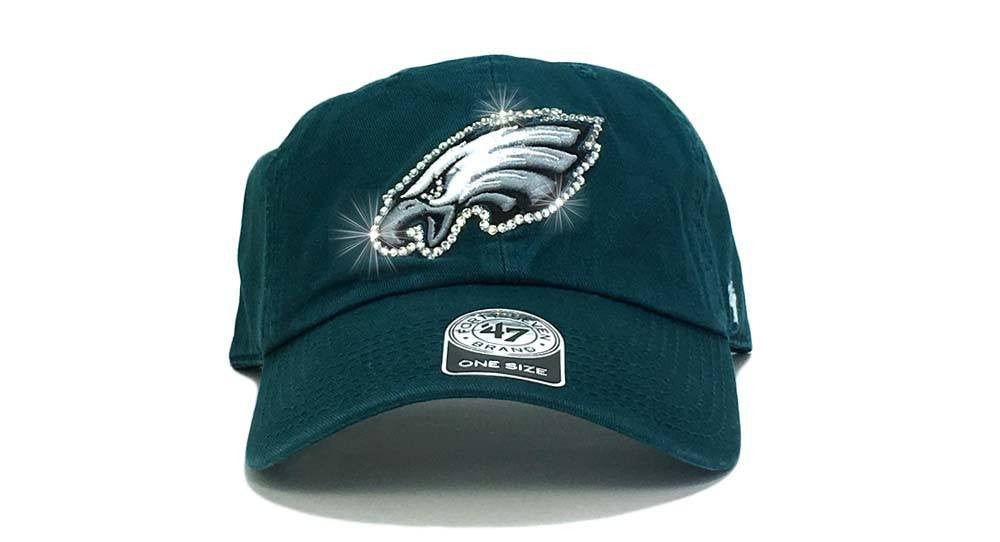 Philadelphia Eagles '47 Brand Adjustable Cap + Custom Swarovski Crystals