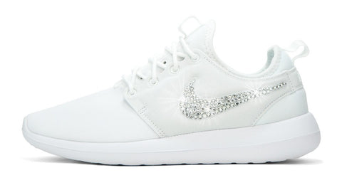 Nike Roshe Two - Crystallized Swarovski Swoosh - White