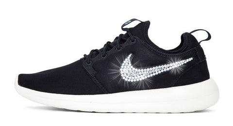 Nike Roshe Two - Crystallized Swarovski Swoosh - Black
