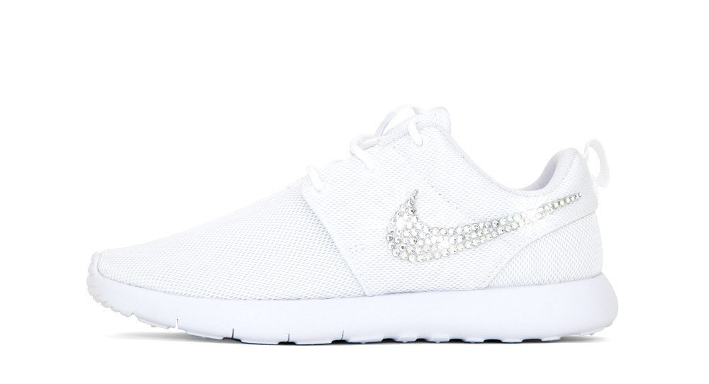 Girls' Nike Roshe One - Crystallized Swarovski Swoosh - Big Kids' (3.5y-7y) - White