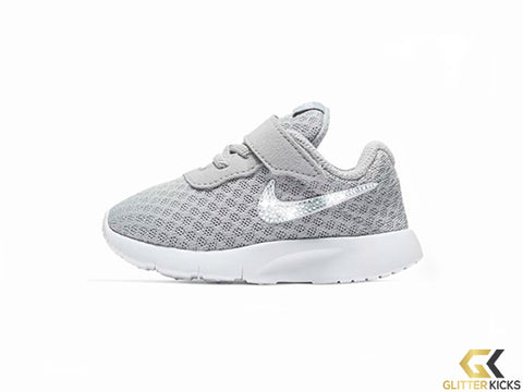 Girls' Nike Tanjun + Crystals - Infant/Toddler (2c-10c) - Grey