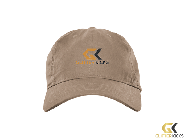 Glitterkicks logo - BX001 Brushed Twill Unstructured Cap