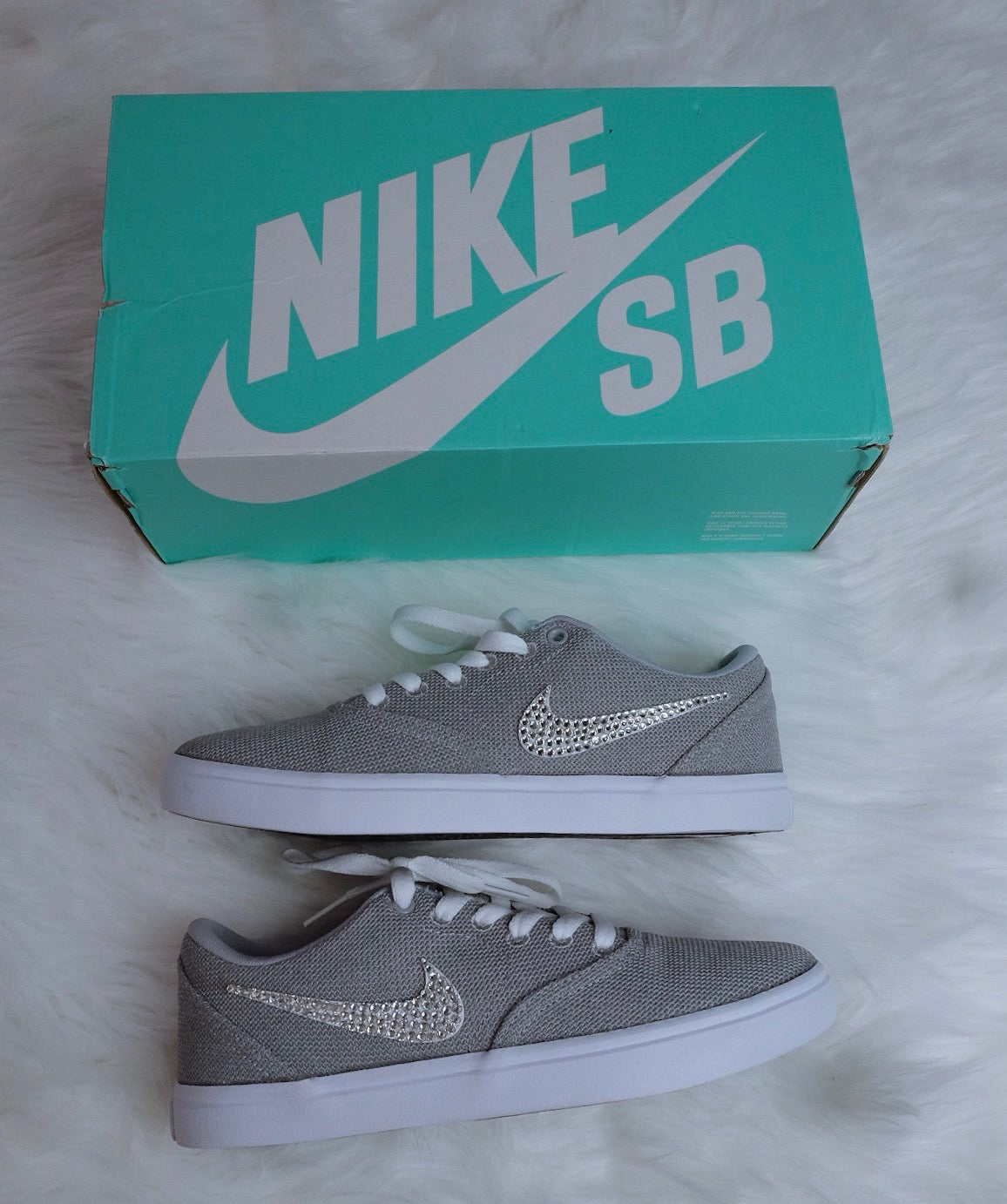 Nike SB Check Solar + Crystals - Grey