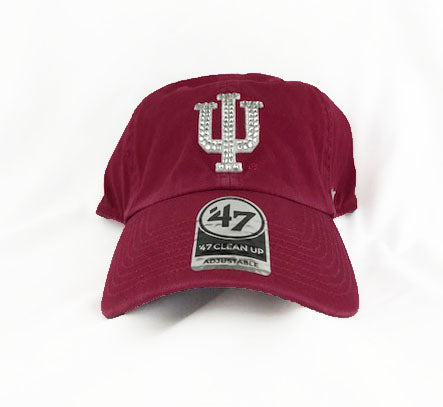 SALE - Indiana University '47 Brand Adjustable Cap + Crystals