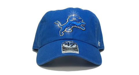Detroit Lions '47 Brand Adjustable Cap + Custom Swarovski Crystals