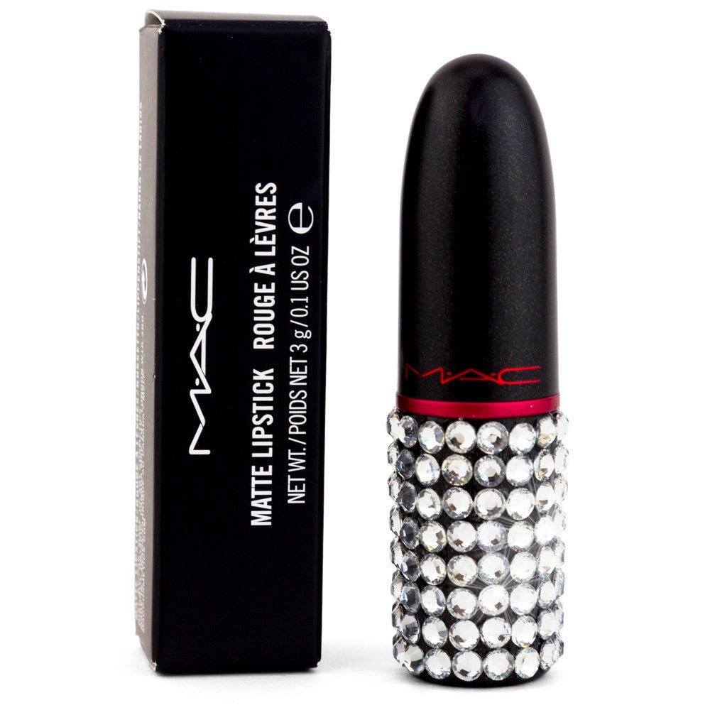 Mac Viva Glam Lipstick - Partially Covered with Swarovski Crystals - Glitter Kicks - 2