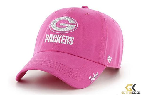 Green Bay Packers '47 Brand Adjustable Cap + Crystals - Pink