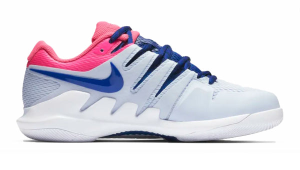 Women's NikeCourt Air Zoom Vapor X + Crystals - Half Blue/ Pink Blast