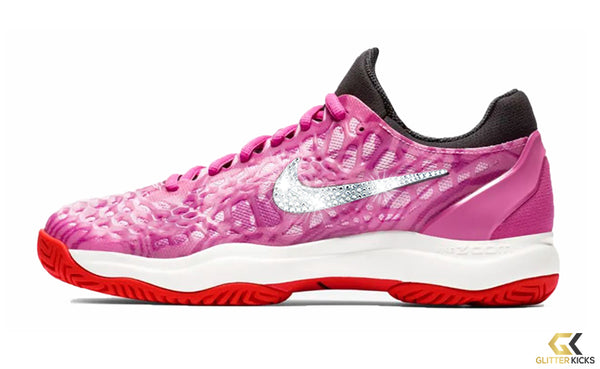 NikeCourt Zoom Cage 3 + Crystals - Active Fuchsia/Psychic Pink