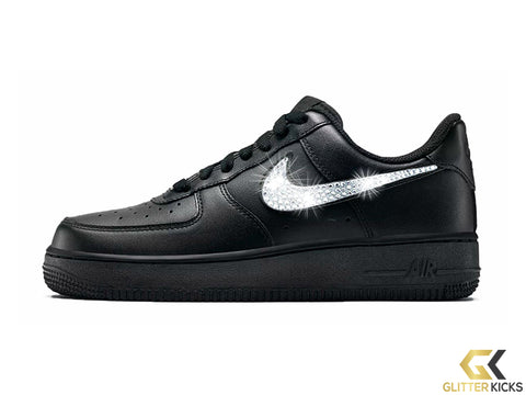 Nike Air Force 1  07 + Crystals - Black 88f15c65a4ef