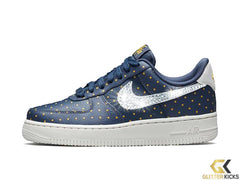 Nike Air Force 1 '07 + Crystals - Thunder Blue