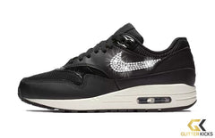 Nike Air Max 1 + Crystals - Black/Summit White