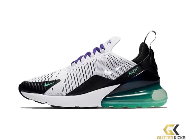 CLEARANCE - Nike Air Max 270 + Crystals - White/Menta/Black/Court Purple - Size 8
