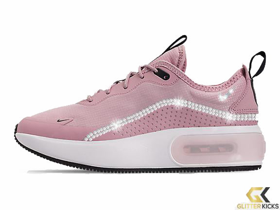 Nike Air Max Dia Casual Shoes + Crystals - Plum Chalk/Plum Eclipse/Summit White
