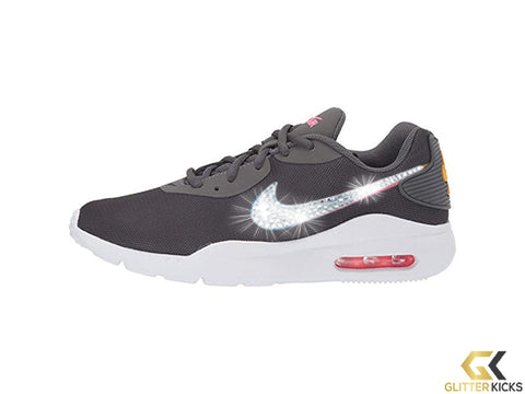Womens Nike Air Max Oketo + Crystals - Dark Grey/University Gold/Hyper Pink