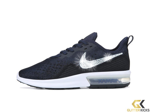 Nike Air Max Sequent 4 + Crystals - Obsidian Gold c3b46e5d6