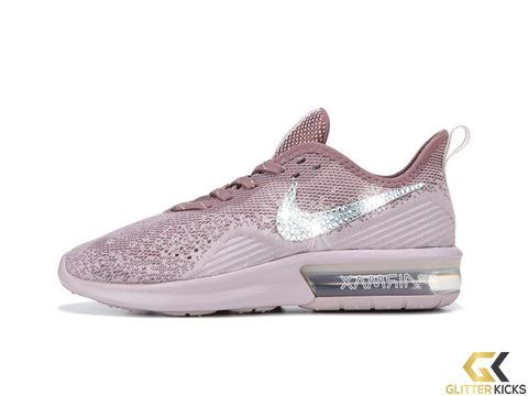 Nike Air Max Sequent 4 + Crystals - Particle Rose Mauve c054674de