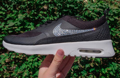 Sale - Nike Air Max Thea + Crystals - Black White – Glitter Kicks ac4cd8a6224c