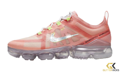 SALE - Nike Air VaporMax 2019 + Crystals - Pink Tint/Barely Volt/Lt Cream/Summit White | Easter Pack - Size 9