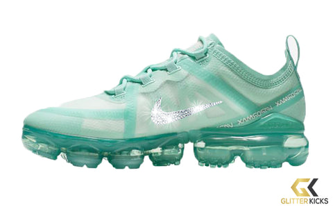 Nike Air VaporMax 2019 + Crystals - Teal Tint/Tropical Twist/Hyper Turq/Off White | Icon Clash