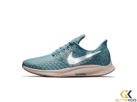 Nike Air Zoom Pegasus 35 + Crystals - Celestial Teal/Particle Beige/Smokey Mauve/Light Silver