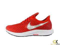 CLEARANCE - Nike Air Zoom Pegasus 35 + Crystals - Team Orange - Size 9.5
