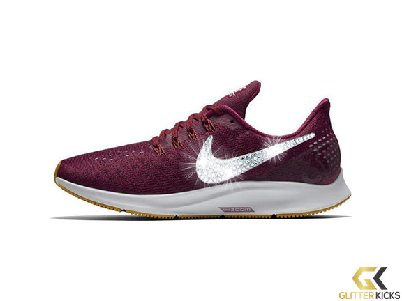 Nike Air Zoom Pegasus 35 + Crystals - True Berry/Vast Grey/Dark Citron/Plum Chalk