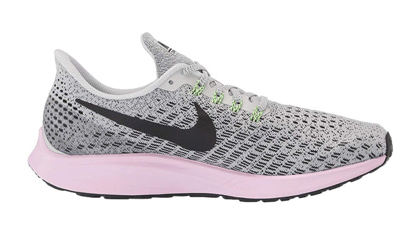 Nike Air Zoom Pegasus 35 + Crystals - Vast Grey/Pink Foam/Lime Blast/Black
