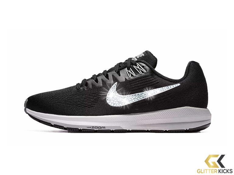 Nike Air Zoom Structure 21 + Crystals - Black/White