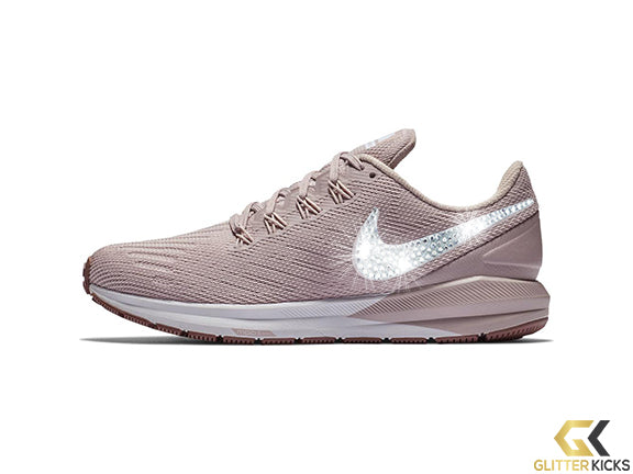 Nike Air Zoom Structure 22 + Crystals - Particle Rose Smokey Mauve White  e511d90e4978
